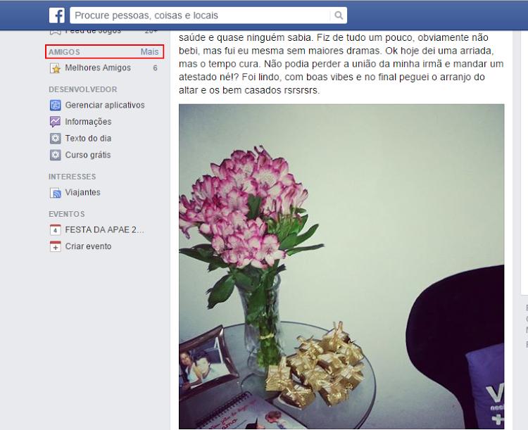 passo 1 como criar listas no facebook