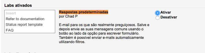 salvar modelo de e-mail no Gmail