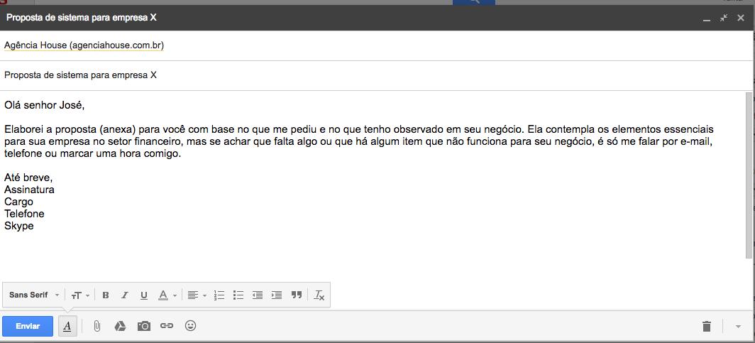 como editar modelo de e-mail no gmail